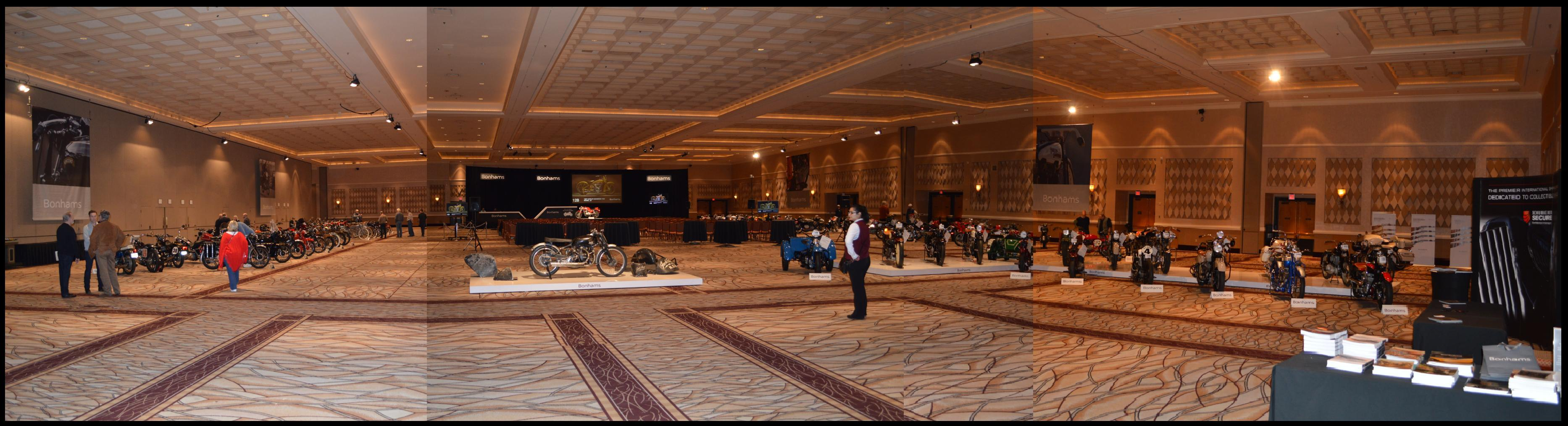 Bonham auction in the Amazon Ballroom at the Rio All Suite Hotel and Casino, photograph by Russell Holder