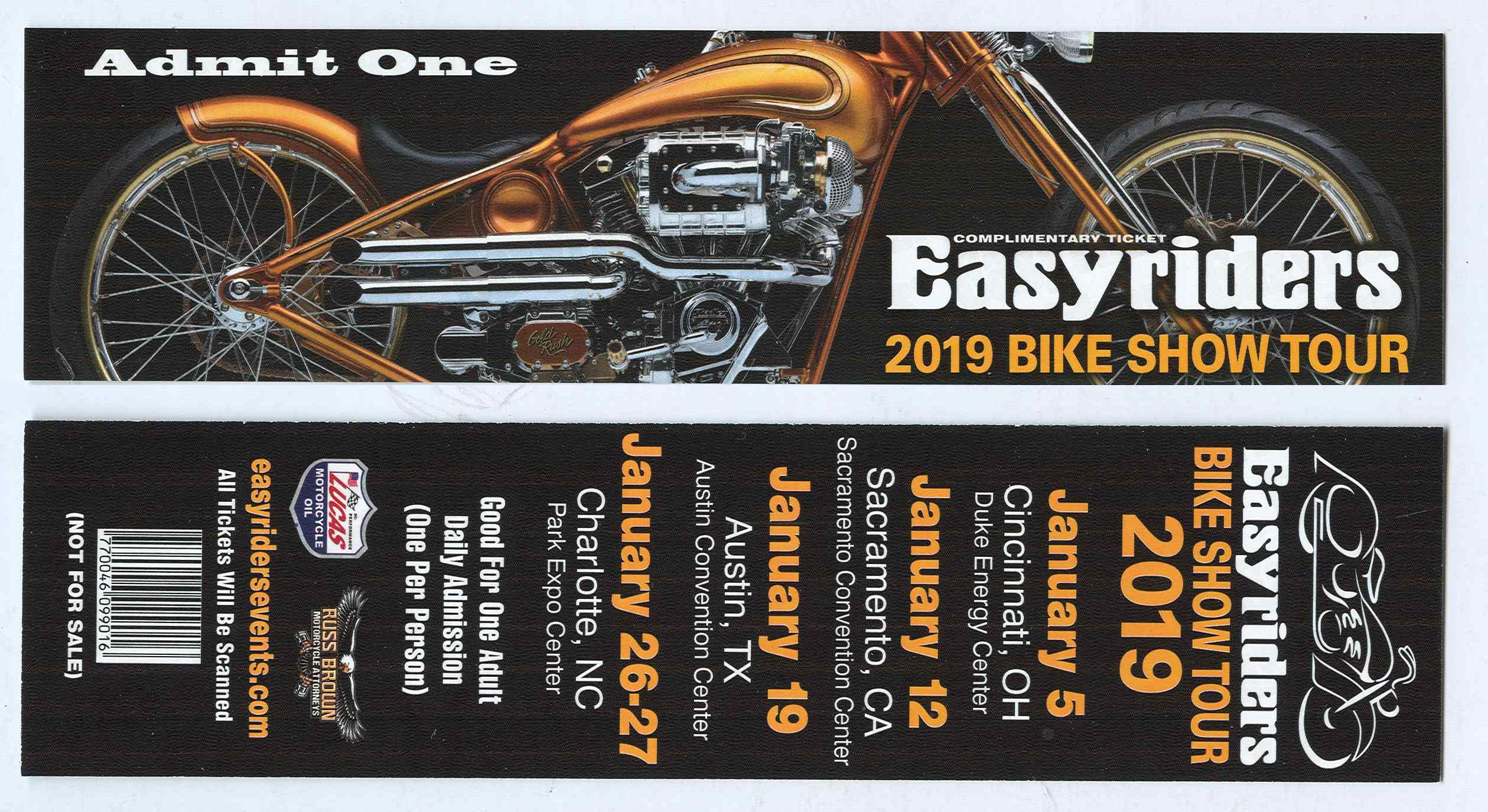the 2019 Easyriders Show - 12JAN19